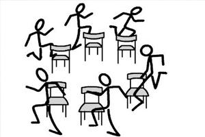 Guardia Nacional y las sillas musicales